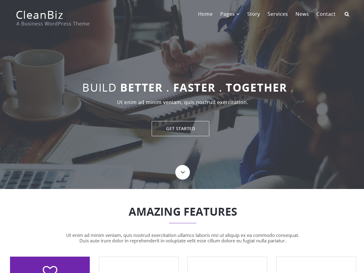 Clean Biz Preview Wordpress Theme - Rating, Reviews, Preview, Demo & Download