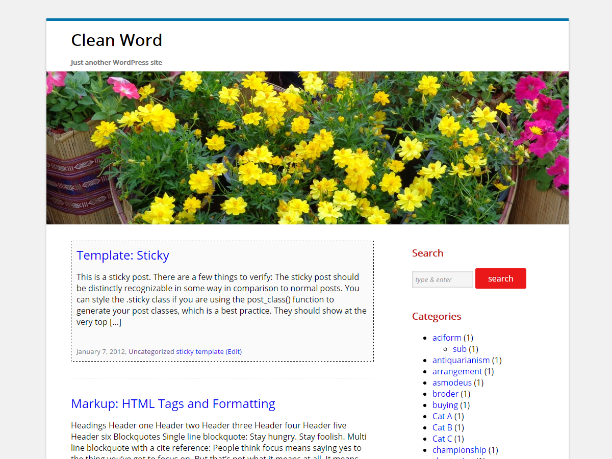 Clean Word Preview Wordpress Theme - Rating, Reviews, Preview, Demo & Download