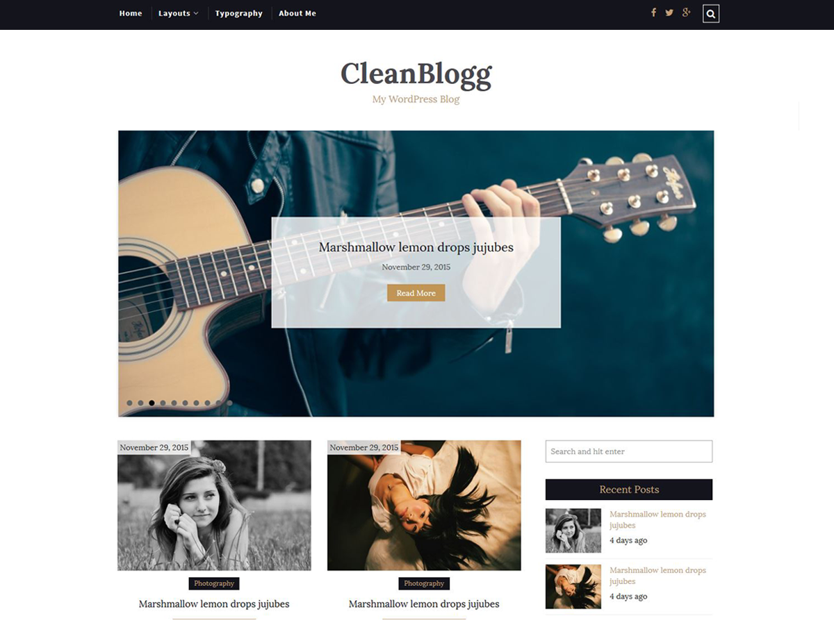 CleanBlogg Preview Wordpress Theme - Rating, Reviews, Preview, Demo & Download