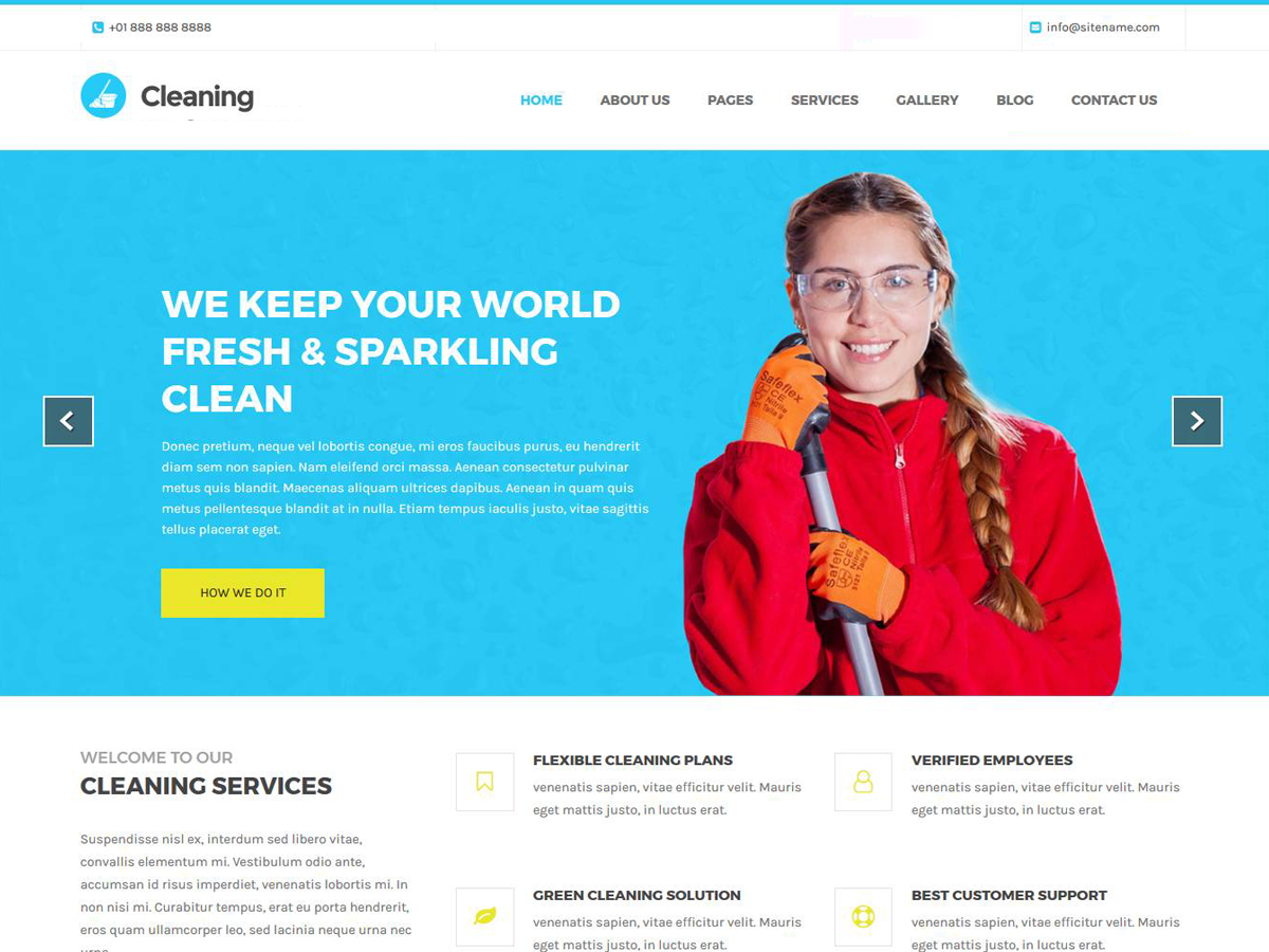 Cleaning Lite Preview Wordpress Theme - Rating, Reviews, Preview, Demo & Download