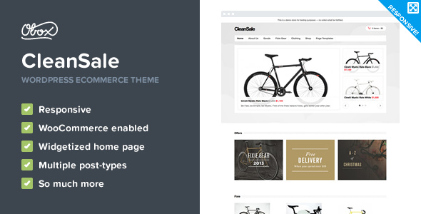 CleanSale Preview Wordpress Theme - Rating, Reviews, Preview, Demo & Download