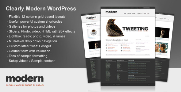 Clearly Modern Preview Wordpress Theme - Rating, Reviews, Preview, Demo & Download
