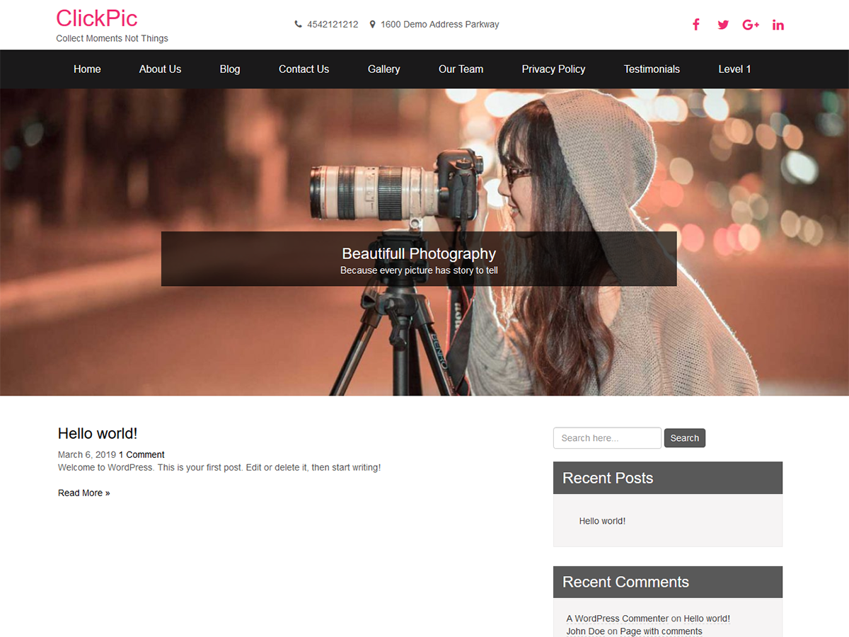 ClickPic Preview Wordpress Theme - Rating, Reviews, Preview, Demo & Download