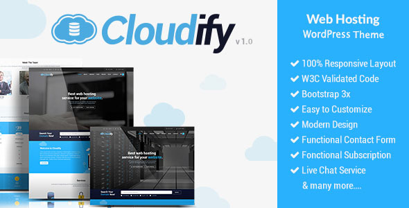 Cloudify Preview Wordpress Theme - Rating, Reviews, Preview, Demo & Download