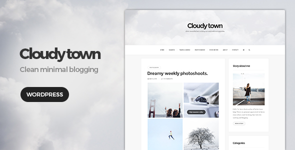 Cloudy Town Preview Wordpress Theme - Rating, Reviews, Preview, Demo & Download