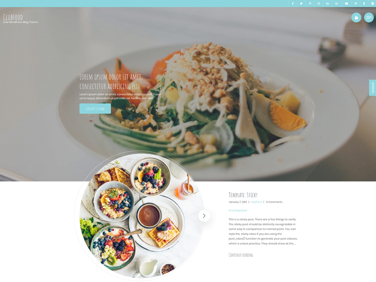 ClubFood Preview Wordpress Theme - Rating, Reviews, Preview, Demo & Download