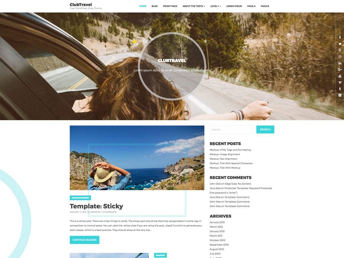 ClubTravel Preview Wordpress Theme - Rating, Reviews, Preview, Demo & Download