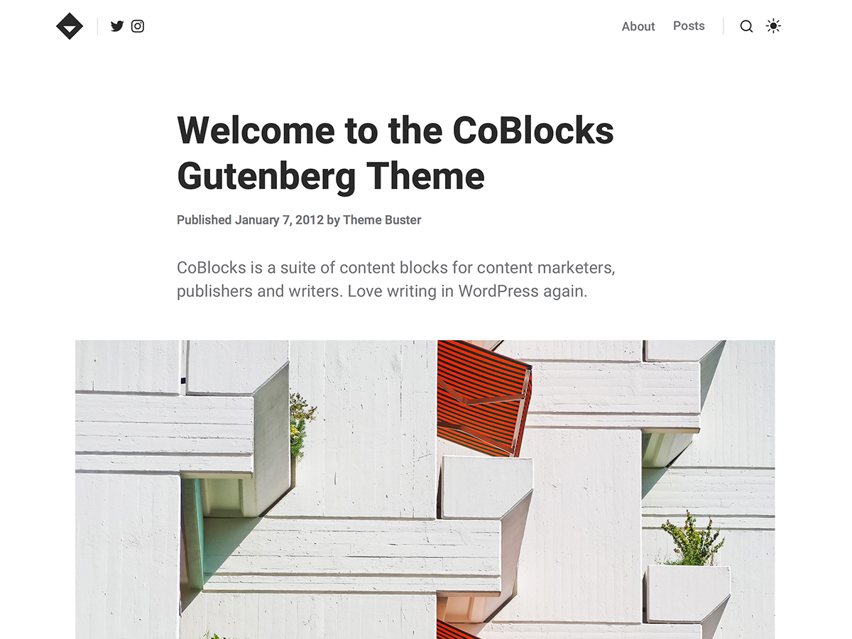 CoBlocks Preview Wordpress Theme - Rating, Reviews, Preview, Demo & Download