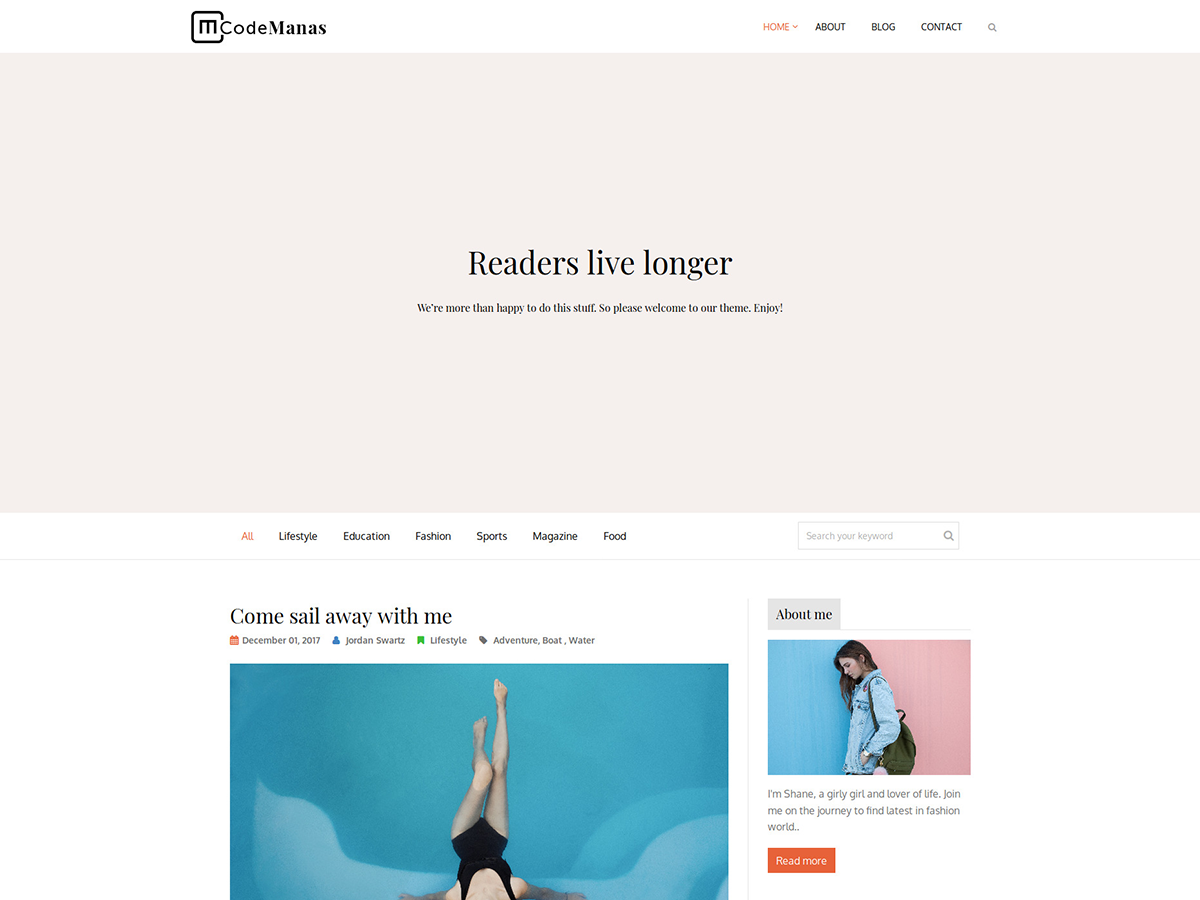 Code Manas Preview Wordpress Theme - Rating, Reviews, Preview, Demo & Download