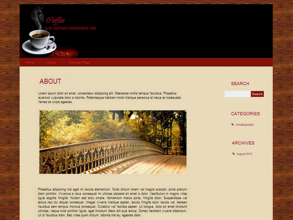 Coffee Preview Wordpress Theme - Rating, Reviews, Preview, Demo & Download