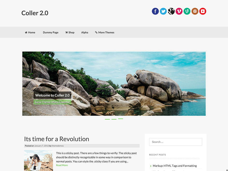 Coller Preview Wordpress Theme - Rating, Reviews, Preview, Demo & Download