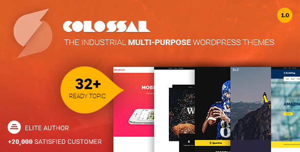 Colossal Preview Wordpress Theme - Rating, Reviews, Preview, Demo & Download