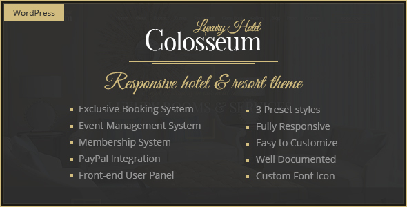 Colosseum Hotel Preview Wordpress Theme - Rating, Reviews, Preview, Demo & Download