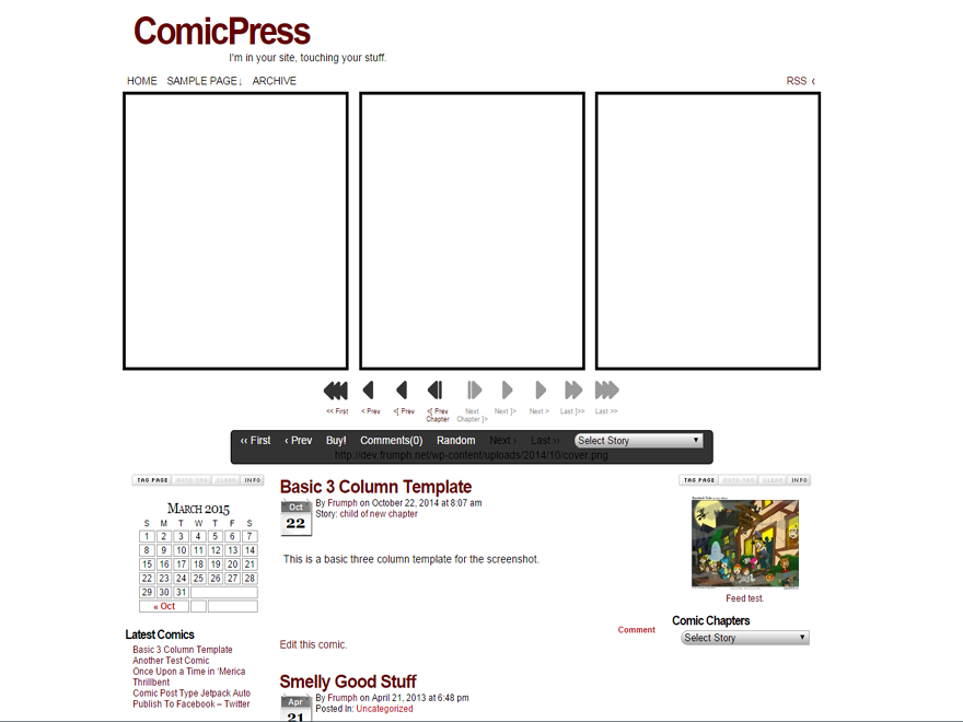 ComicPress Preview Wordpress Theme - Rating, Reviews, Preview, Demo & Download