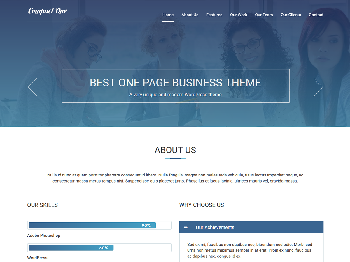 Compact One Preview Wordpress Theme - Rating, Reviews, Preview, Demo & Download