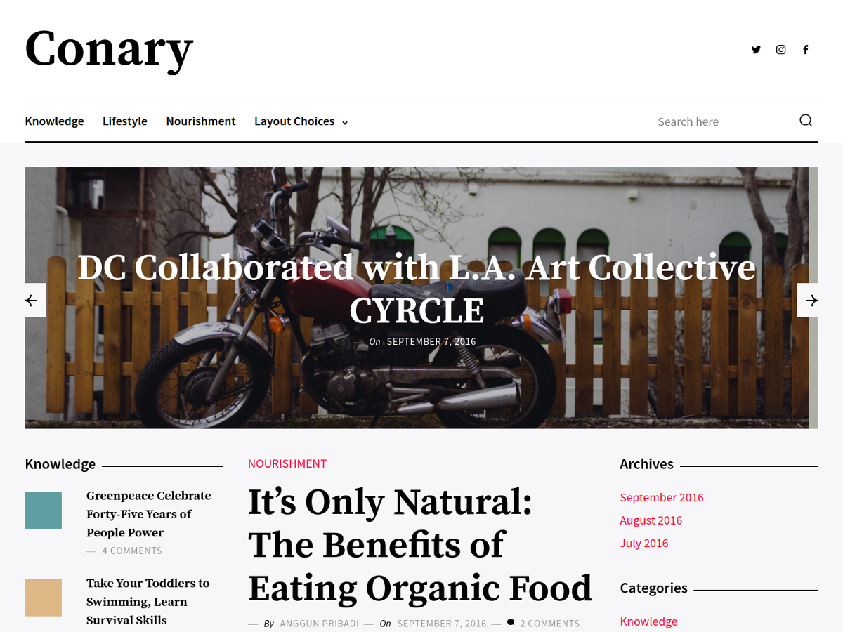 Conary Preview Wordpress Theme - Rating, Reviews, Preview, Demo & Download