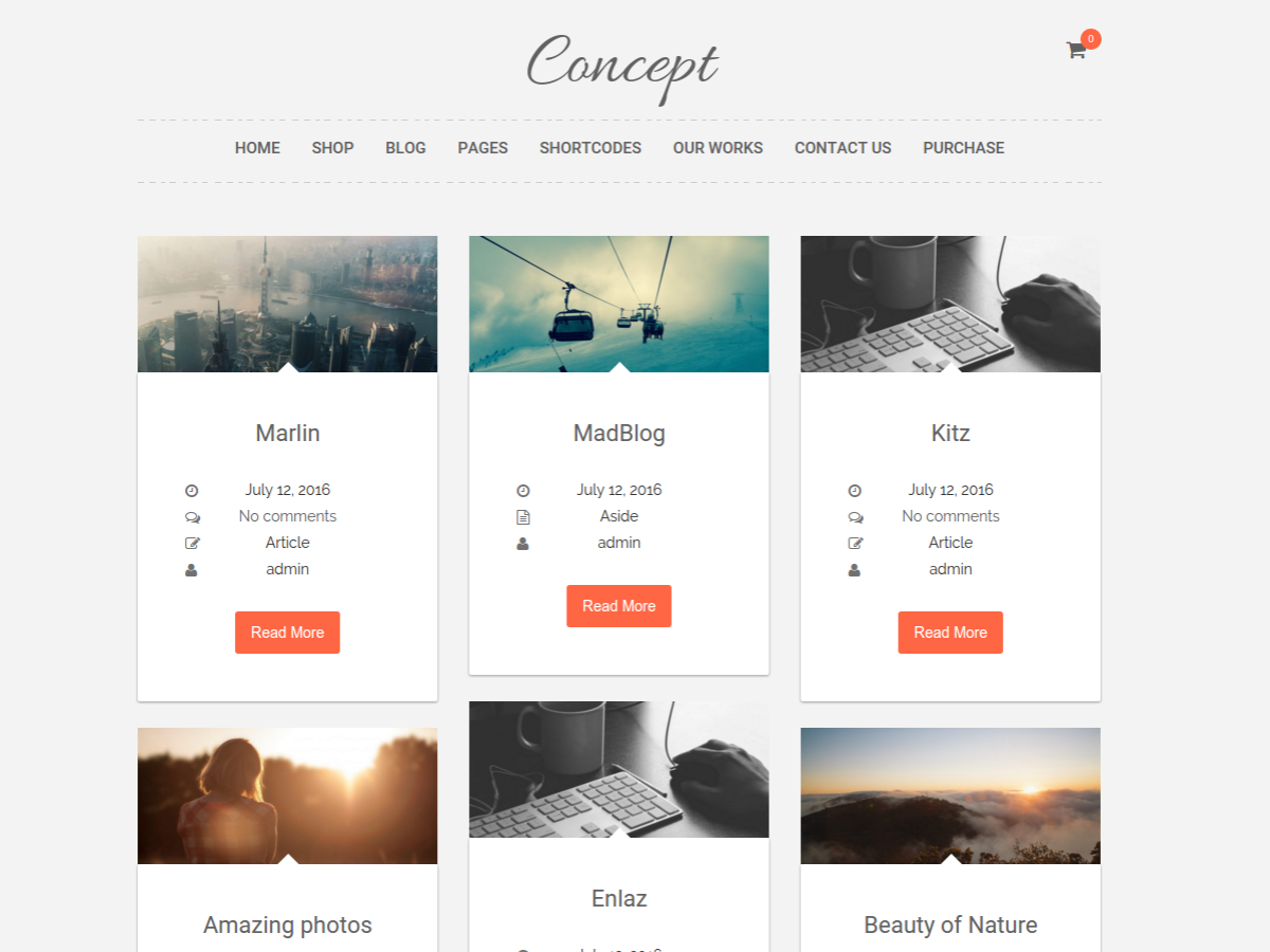 Concepto Lite Preview Wordpress Theme - Rating, Reviews, Preview, Demo & Download