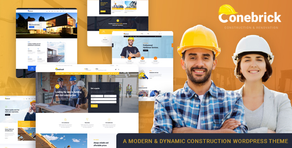 Conebrick Preview Wordpress Theme - Rating, Reviews, Preview, Demo & Download