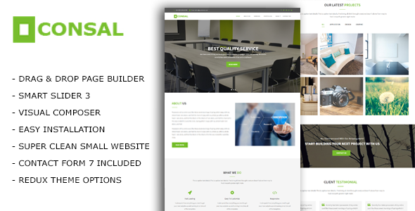 Consal Preview Wordpress Theme - Rating, Reviews, Preview, Demo & Download