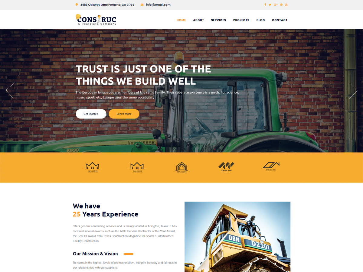 Construc Preview Wordpress Theme - Rating, Reviews, Preview, Demo & Download