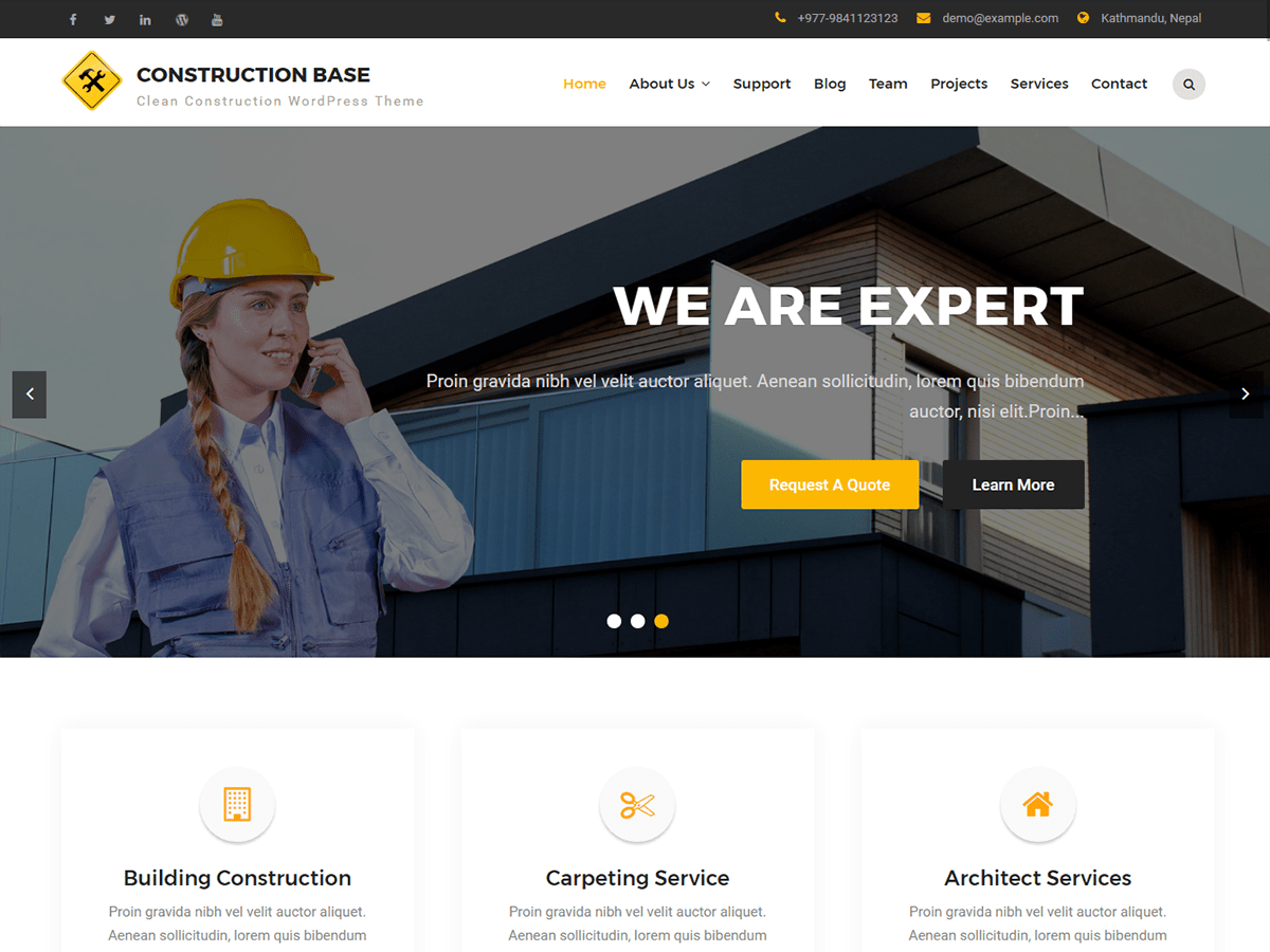 Construction Base Preview Wordpress Theme - Rating, Reviews, Preview, Demo & Download