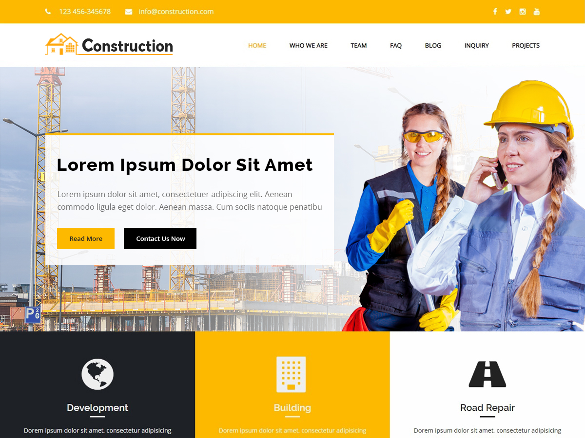 Construction City Preview Wordpress Theme - Rating, Reviews, Preview, Demo & Download