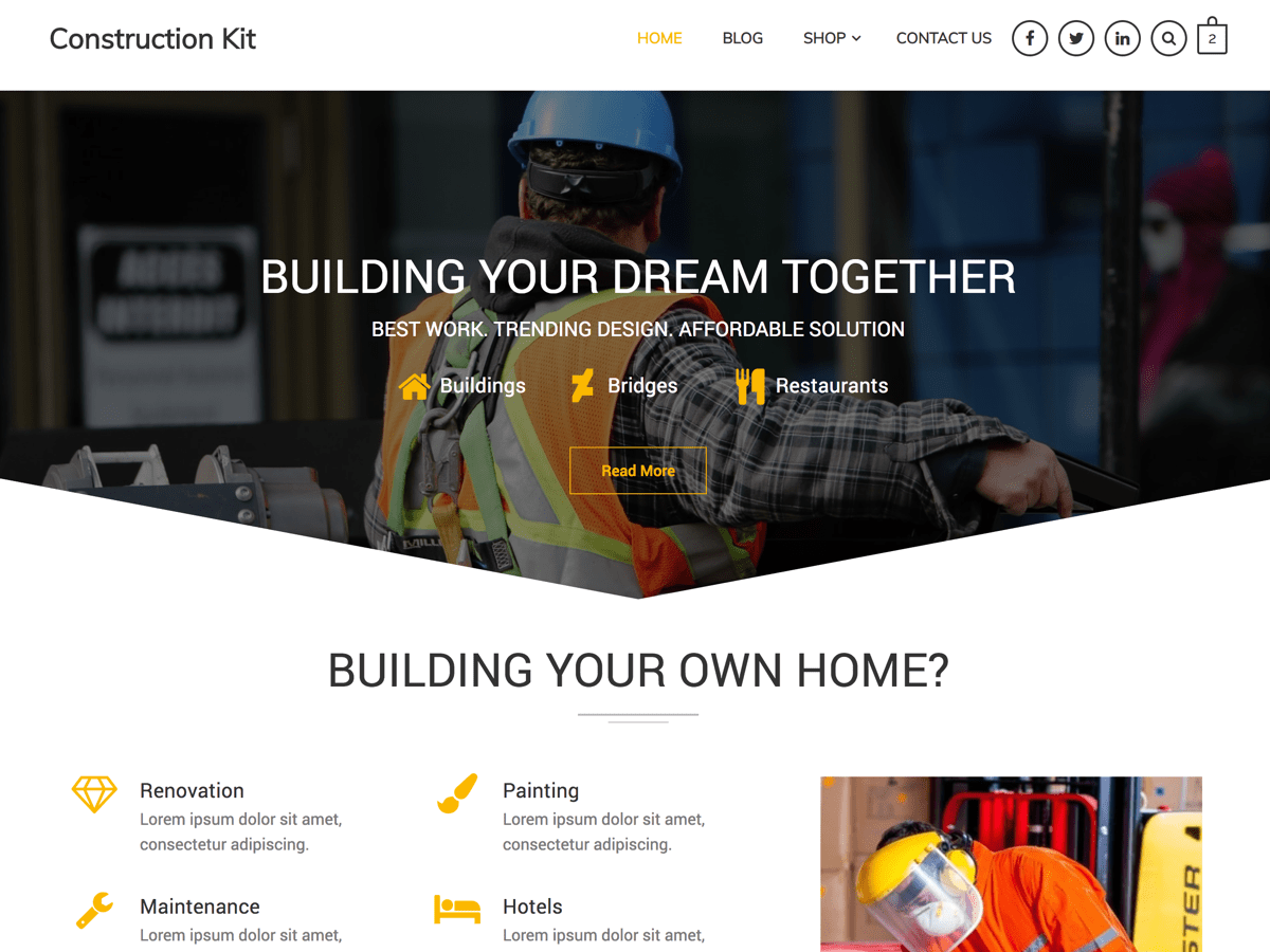 Construction Kit Preview Wordpress Theme - Rating, Reviews, Preview, Demo & Download
