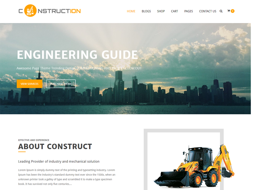 Construction Lite Preview Wordpress Theme - Rating, Reviews, Preview, Demo & Download