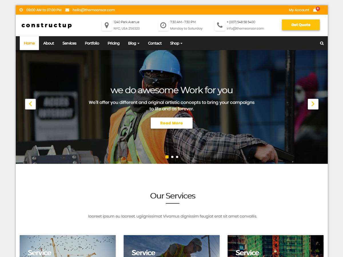 Constructup Preview Wordpress Theme - Rating, Reviews, Preview, Demo & Download