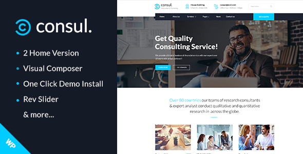 Consul Preview Wordpress Theme - Rating, Reviews, Preview, Demo & Download