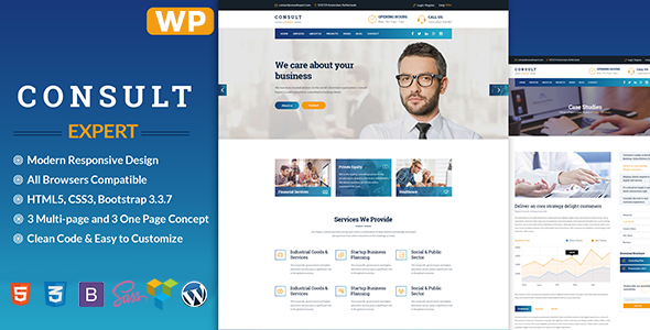Consult Expert Preview Wordpress Theme - Rating, Reviews, Preview, Demo & Download