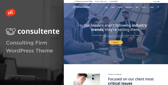 Consultente Preview Wordpress Theme - Rating, Reviews, Preview, Demo & Download