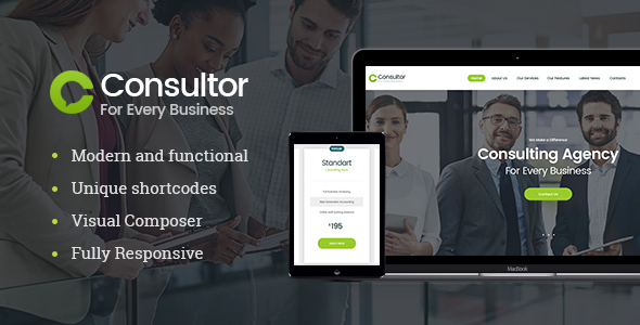 Consultor Preview Wordpress Theme - Rating, Reviews, Preview, Demo & Download