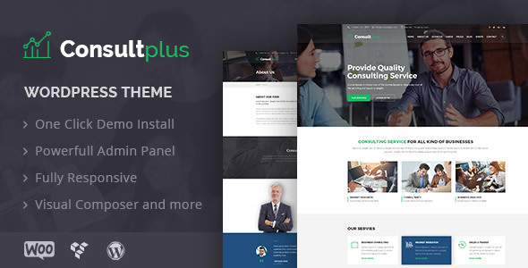 Consultplus Preview Wordpress Theme - Rating, Reviews, Preview, Demo & Download