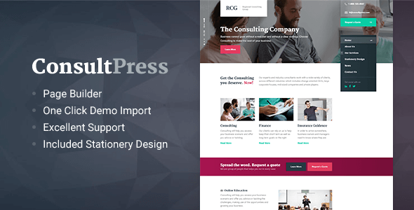ConsultPress Preview Wordpress Theme - Rating, Reviews, Preview, Demo & Download