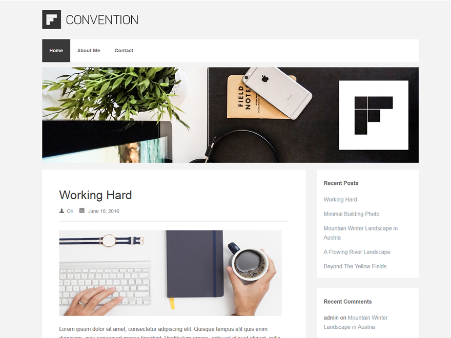 Convention Preview Wordpress Theme - Rating, Reviews, Preview, Demo & Download