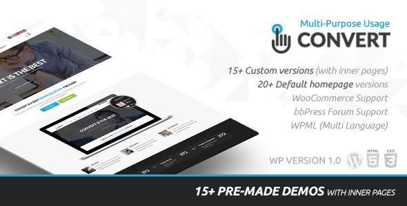 Convert Responsive Preview Wordpress Theme - Rating, Reviews, Preview, Demo & Download