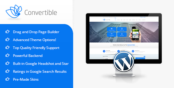 Convertible Preview Wordpress Theme - Rating, Reviews, Preview, Demo & Download
