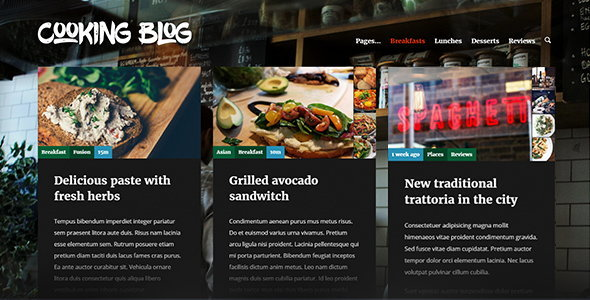 Cooking Blog Preview Wordpress Theme - Rating, Reviews, Preview, Demo & Download