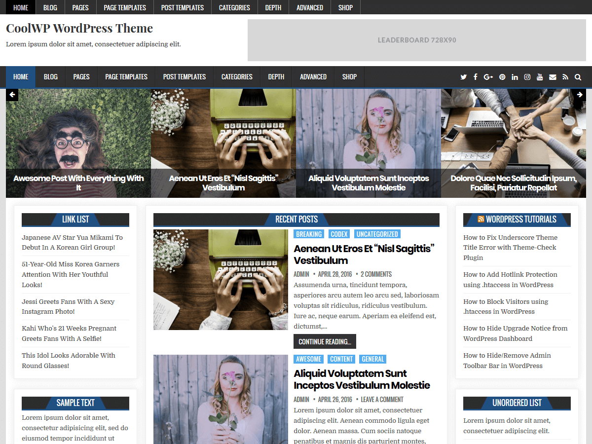 CoolWP Preview Wordpress Theme - Rating, Reviews, Preview, Demo & Download