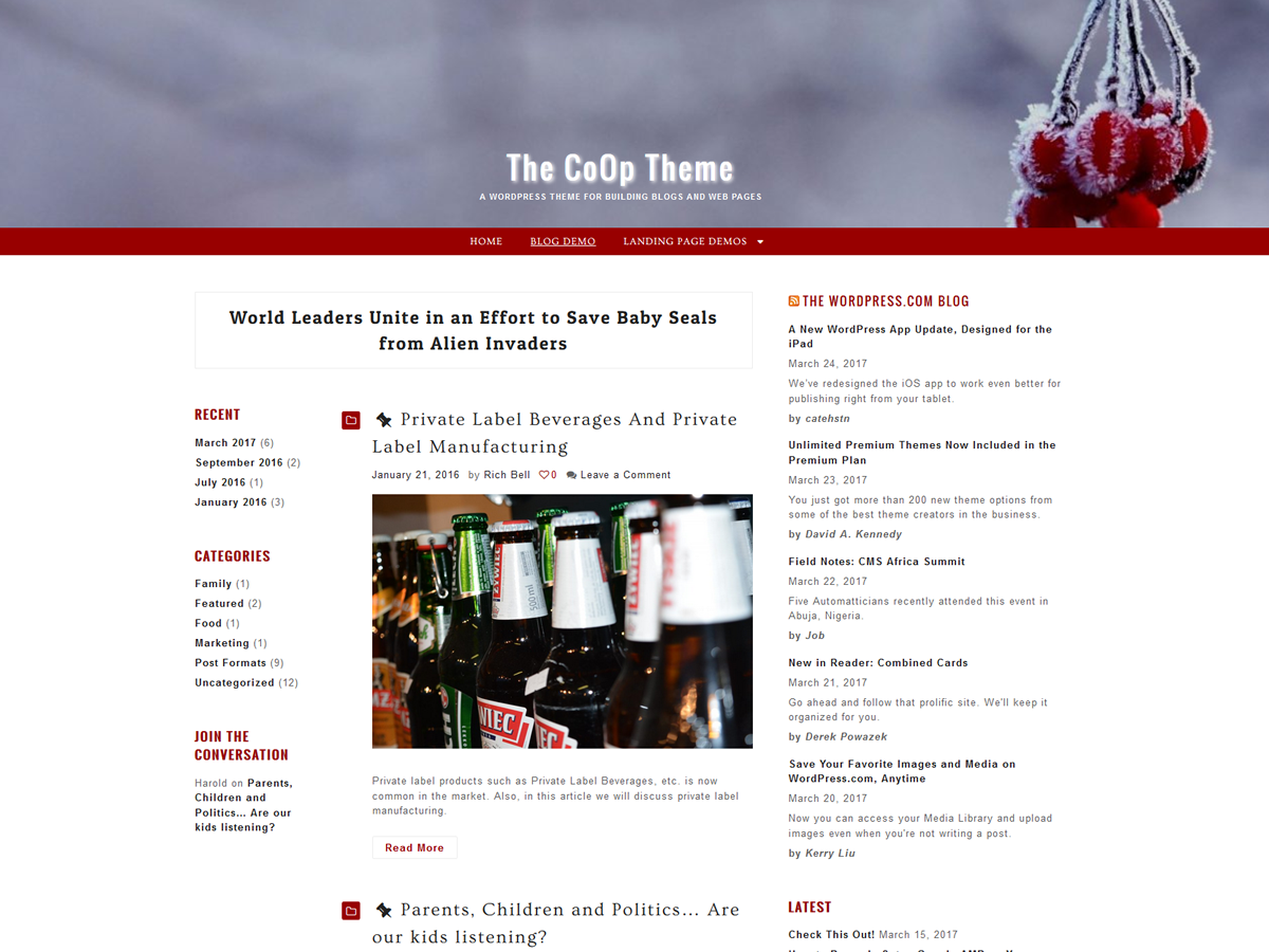 CoOp Preview Wordpress Theme - Rating, Reviews, Preview, Demo & Download