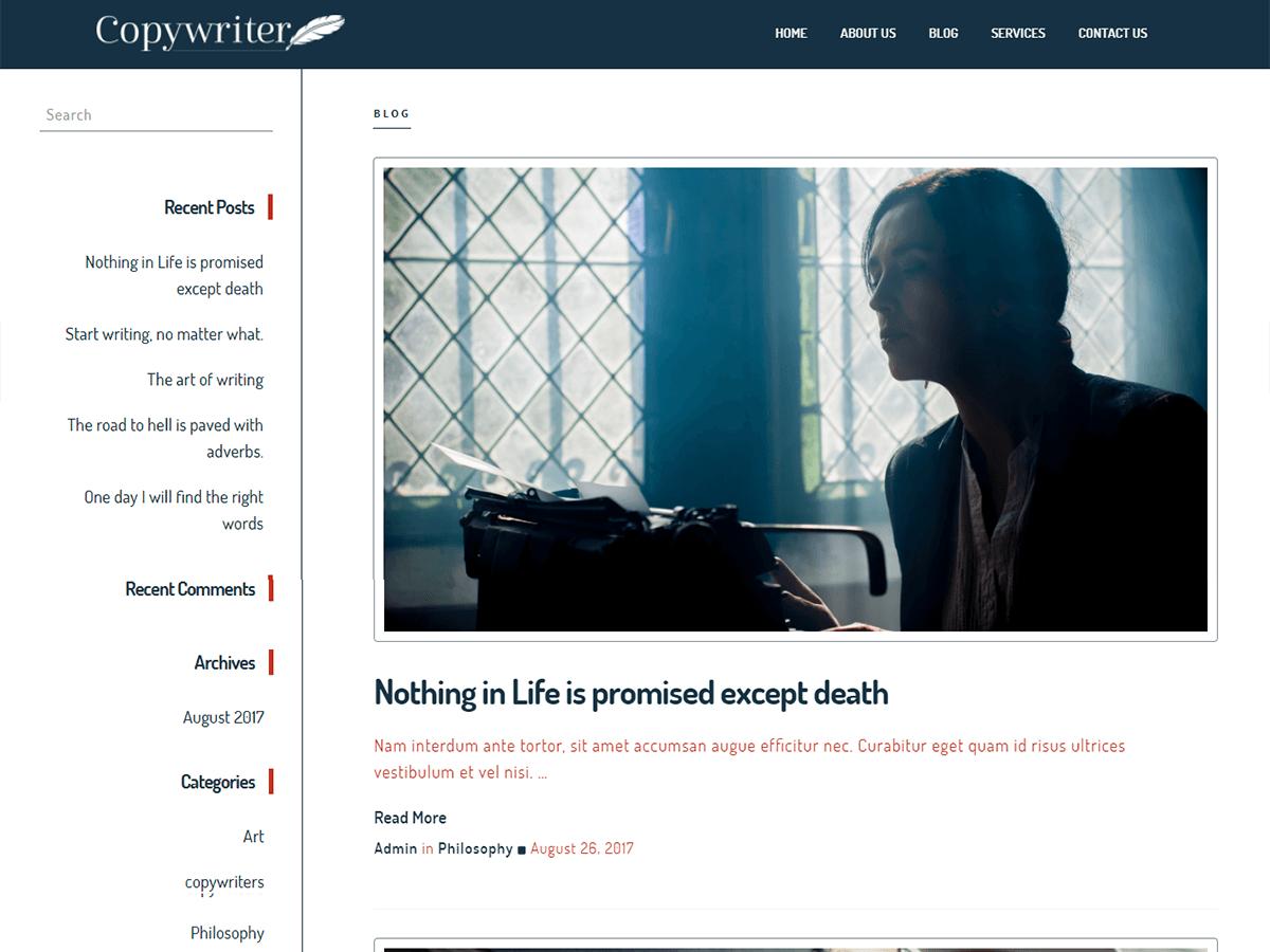 Copywriter Preview Wordpress Theme - Rating, Reviews, Preview, Demo & Download