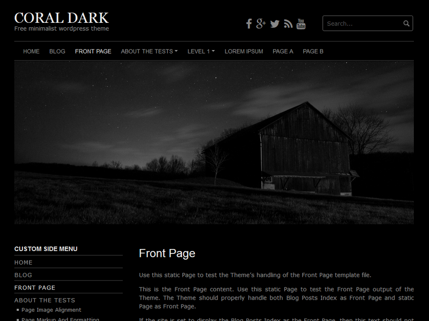 Coral Dark Preview Wordpress Theme - Rating, Reviews, Preview, Demo & Download