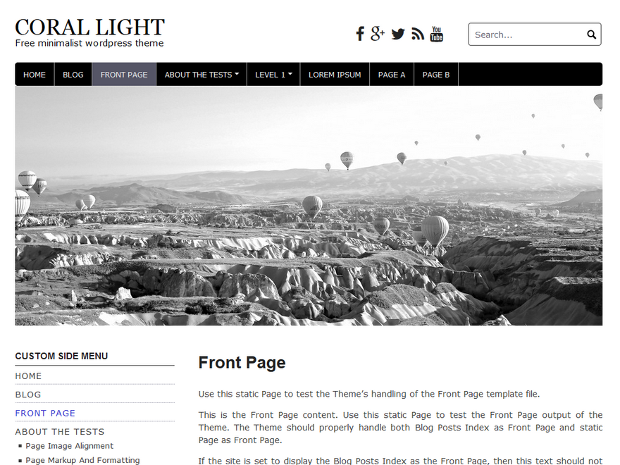 Coral Light Preview Wordpress Theme - Rating, Reviews, Preview, Demo & Download