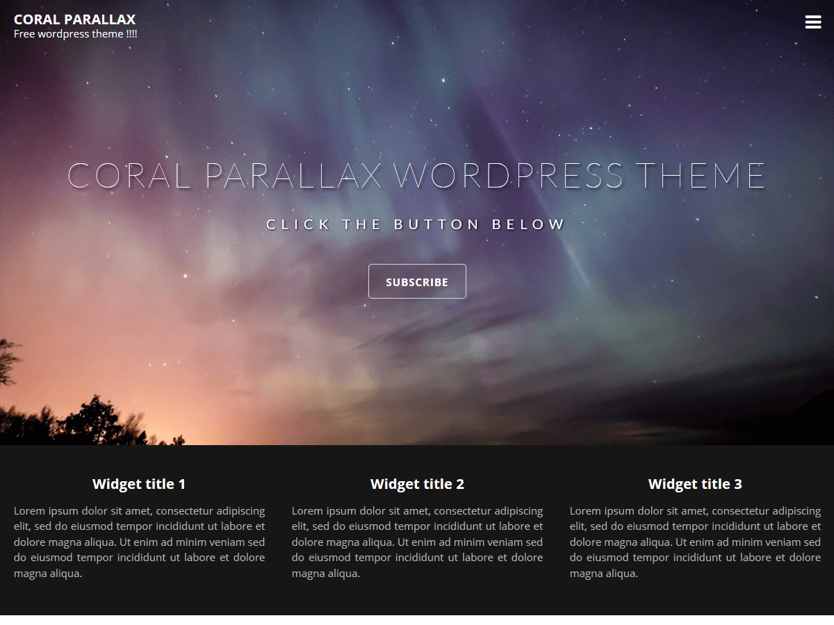 Coral Parallax Preview Wordpress Theme - Rating, Reviews, Preview, Demo & Download