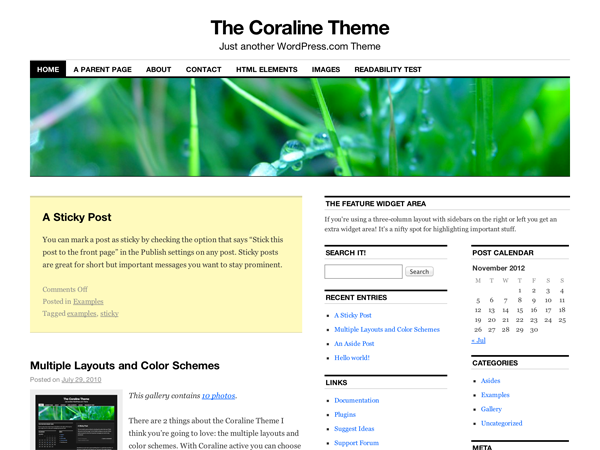 Coraline Preview Wordpress Theme - Rating, Reviews, Preview, Demo & Download