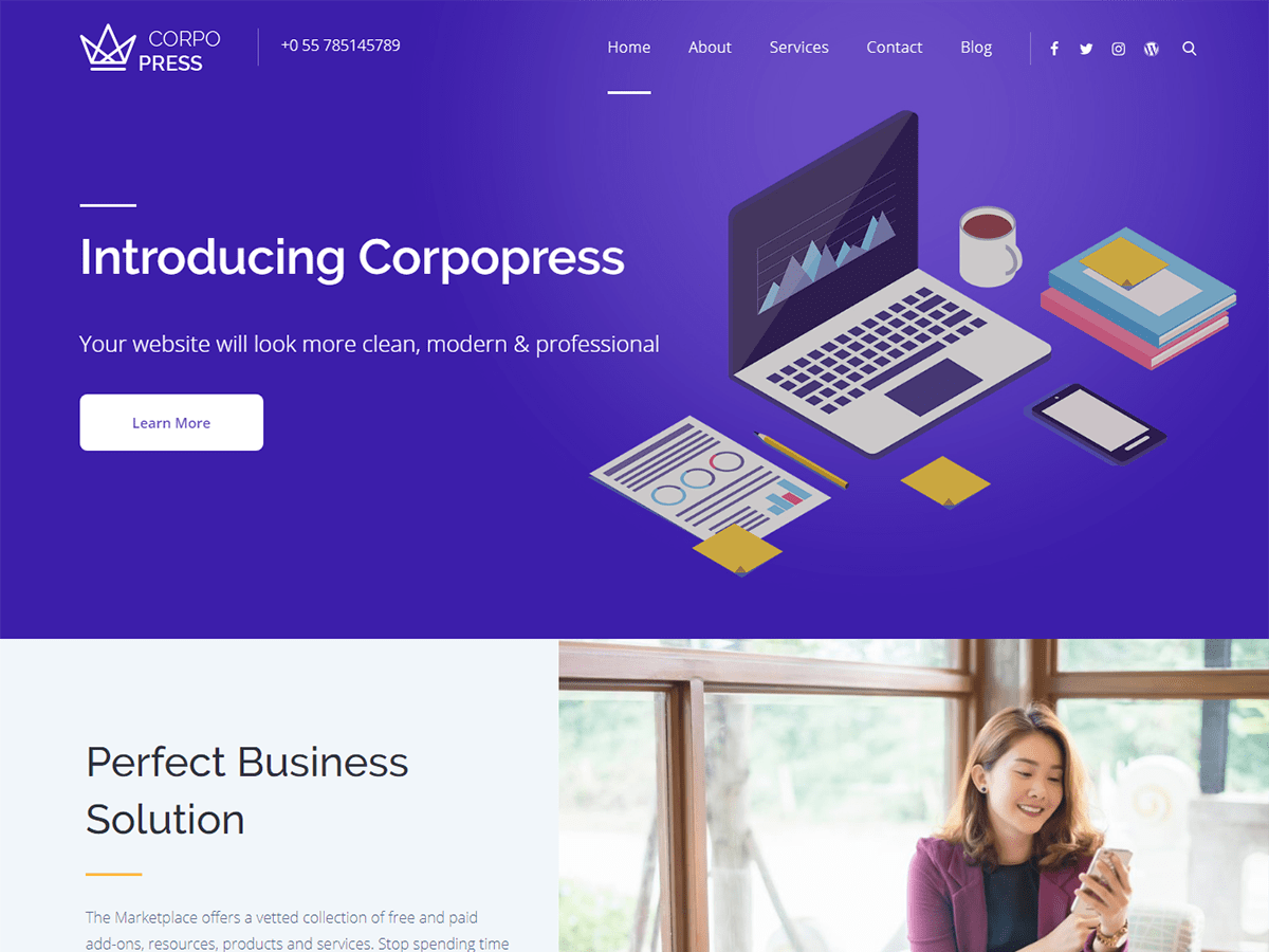 Corpopress Preview Wordpress Theme - Rating, Reviews, Preview, Demo & Download