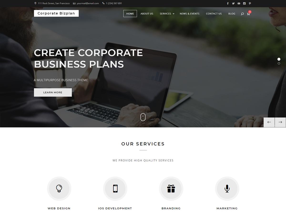 Corporate Bizplan Preview Wordpress Theme - Rating, Reviews, Preview, Demo & Download