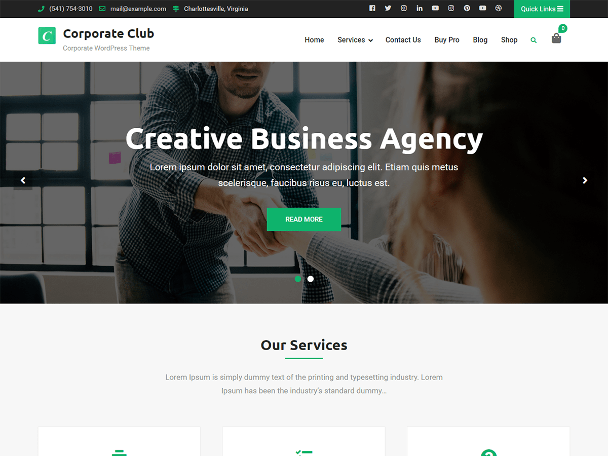 Corporate Club Preview Wordpress Theme - Rating, Reviews, Preview, Demo & Download