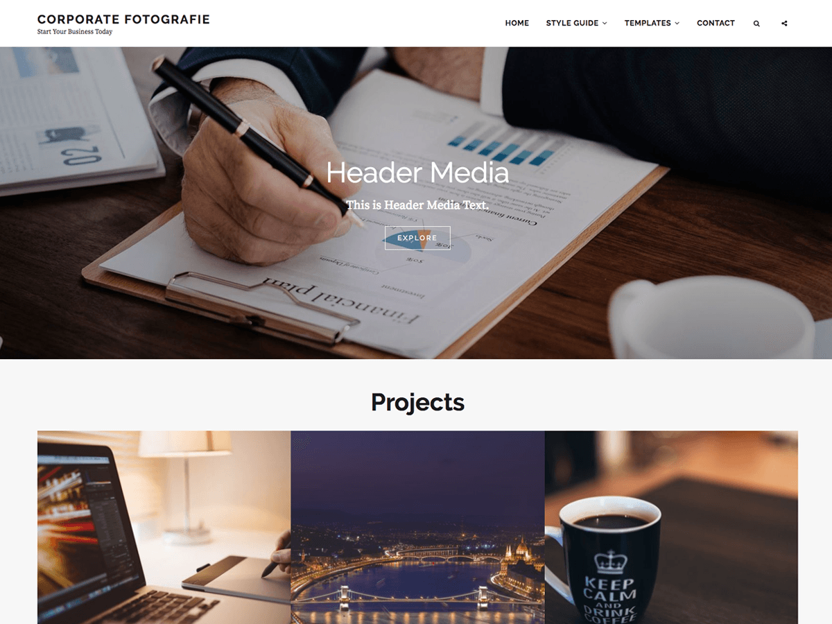 Corporate Fotografie Preview Wordpress Theme - Rating, Reviews, Preview, Demo & Download